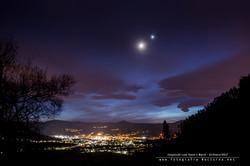 Conjunción Luna, Venus y Marte