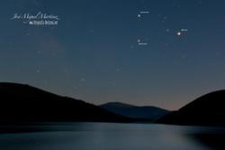Saturno Marte y Antares