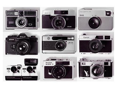 9 Cameras (Unframed)