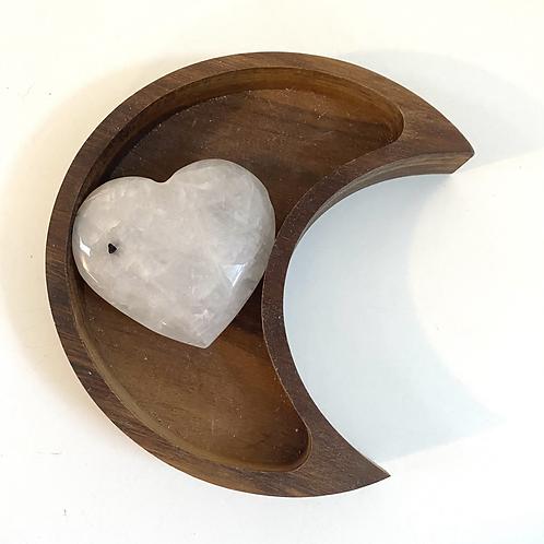 Tourmalinated Quartz Heart (approx 116 grams)