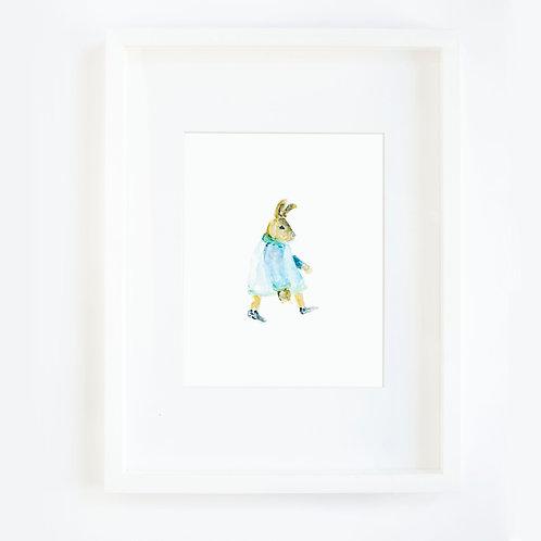 Bunny Coat Walking