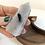 Thumbnail: Tourmalinated Quartz Point (approx 76 grams)