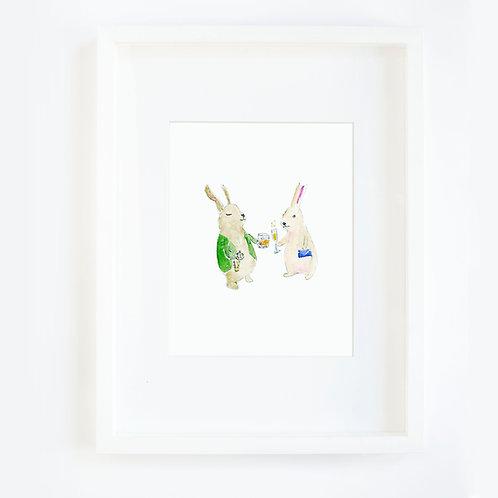 Bunny Couple Drinking