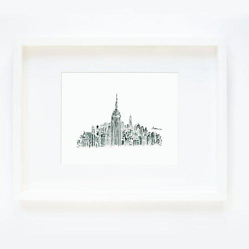 NYC Black & White Sketch