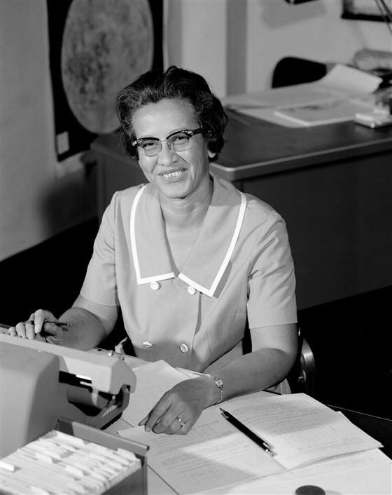 NASA space scientist and mathematician Katherine Johnson at Langley Research Center in Va., in 1966.NASA / Getty Images file