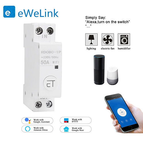 1P WiFi Remote Compatiable With Amazon Alexa and Google Home for Smart Home