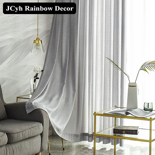JCyh Super Soft Modern Tulle Curtains  for Window Blinds Home Decor Treatment