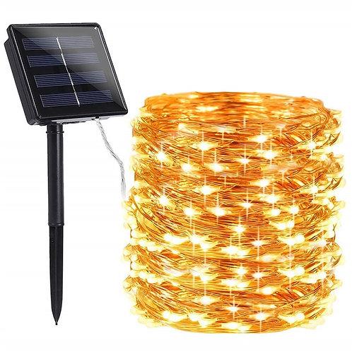 72ft 22M 200 LED Solar Strip Light   Outdoor Solar Powered Christmas Party Decor