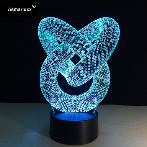 3D LED Light Hologram Illusions 7 Colors Change Decor Lamp Best Night Light