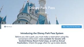 Disney Park Pass - o novo sistema de agendamento da Disney