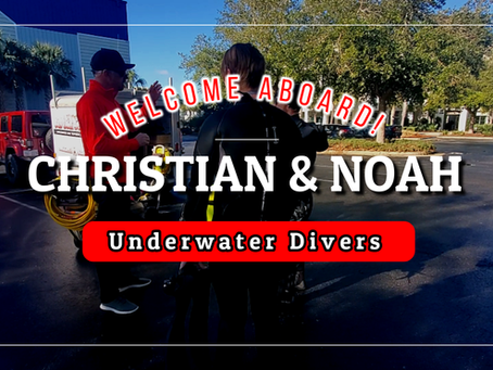 Say Hello to Our Newest Underwater Divers - Christian and Noah