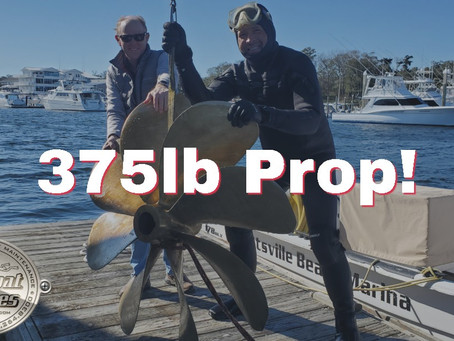 Underwater Prop Removal at Wrightsville Beach - 375lb Propellers!!!