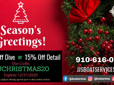 J&J Boat Services Christmas Deals!