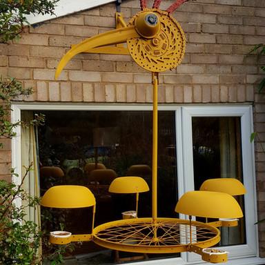 Rotating High Hanging bird feeder