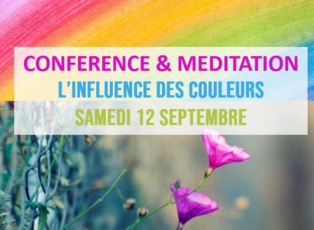 L'influence des couleurs : conférence & méditation