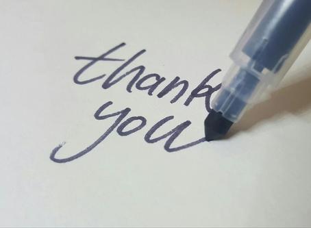 Es ist Zeit Danke zu sagen!