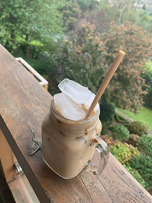 Wheat Straw in an Iced Coffee