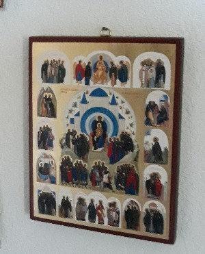 Ikone aller Heiligen der Schweiz