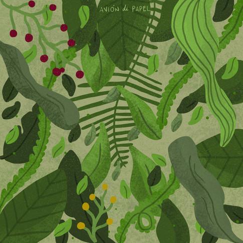 A veces, además de hablar de medio ambiente, me gusta simplemente dibujar hojas.