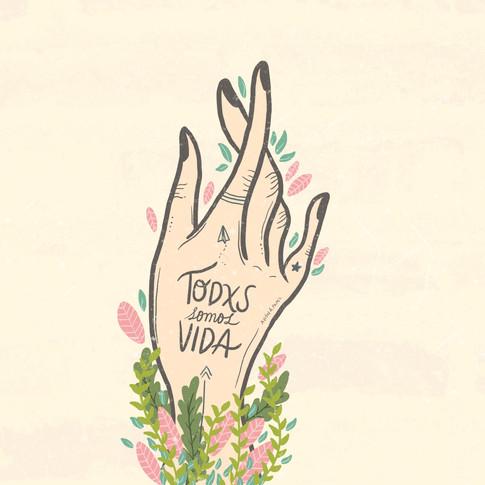Con nuestras manos creamos mundos posibles pero también hacemos un daño increíble, con nuestras manos podemos sembrar y también destruir bosques enteros, con nuestras manos amamos a ciertos animales y nos comemos a otros. Tenemos el poder en nuestras manos de crear el mundo que queremos o destruir el que tenemos.