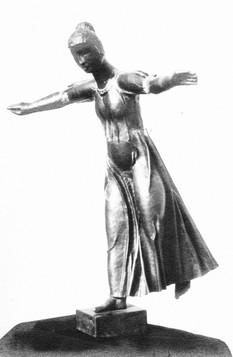 Laufendes Mädchen (1932), Kupfer getrieben 70 cm, Havelberg, verschollen