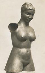 Mädchentorso, Messing lebensgroß getrieben, 1926, in der Nationalgalerie Berlin 1937 als entartet beschlagnahmt, heute in der Neuen Nationalgalerie Berlin
