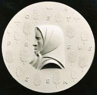 Ostpreußen (1937), Reliefplatte 7,5 cm, Porzellan (KPM), Jahresgabe des Kunstvereins Königsberg
