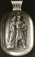 Anhänger, Orpheus und Euridike (ca.1935), ziseliert