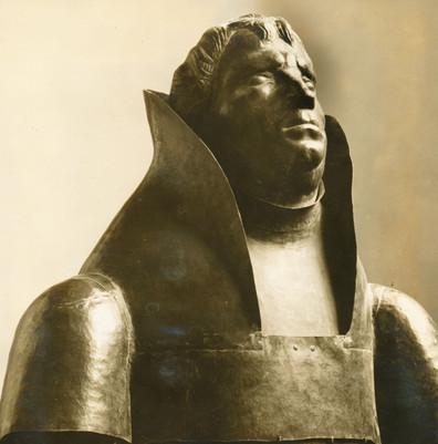 Lutherbüste (1928), Kupfer getrieben, von einer Lutherstatue abgetrennt, Pressa Köln 1928, Weltausstellung Chicago 1933, verschollen