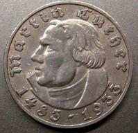Gedenkmünze zum 450. Geburtstag Martin Luthers (1933), Silber als 2RM und 5RM