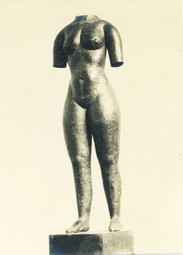 Torso lebensgroß (1929), Kupfer getrieben, verschollen
