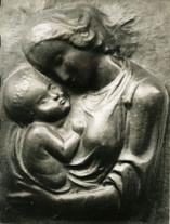 Madonna (ca. 1947), Kupfer getrieben, 50 cm hoch