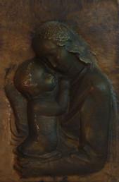 Madonna (ca. 1948), Kupfer getrieben, 50 cm hoch