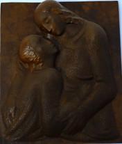 Agape (ca. 1947), Kupfer getrieben, 55 cm hoch