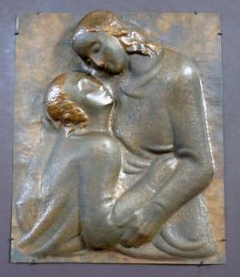 Agape (1949), Kupfer getrieben, 60 cm hoch