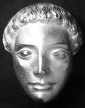 Apollomaske, Anhänger (ca. 1937), ziseliert