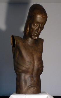Kruzifix (1948), unvollendet, Kupfer getrieben, überlebensgroß