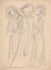 Trauernde Maria mit den Frauen