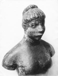 Bauernmädchen (1928), lebensgroß, Kupfer getrieben, verschollen