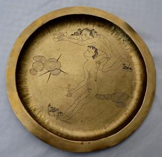 Teller (ca.1920), Messing graviert