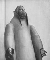 Lutherstatue (1928), Kupfer getrieben, lebensgroß,  Pressa 1928, Weltausstellung Chicago 1933,verschollen