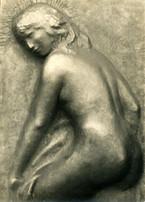 Susanna im Bade, (ca. 1947), Kupfer getrieben