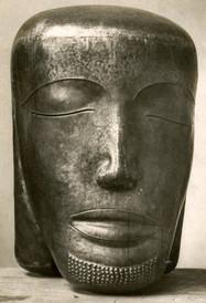 Christuskopf (1926), Messing getrieben, Studie zum Kruzifix der Christkönigskirche Bischoffsheim, verschollen