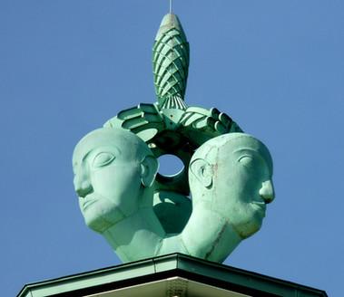 Allegorische Figur, Messeturm Köln, Pressa 1928