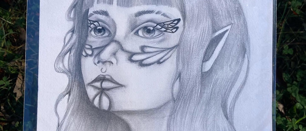 Butterfly Bliss Original Drawing