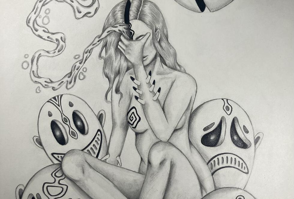 Cerebral Cacophony Original Drawing