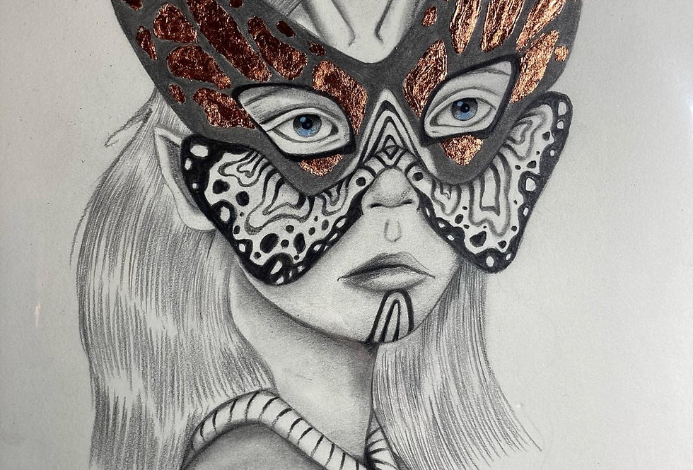 Butterfly Spy Original Drawing