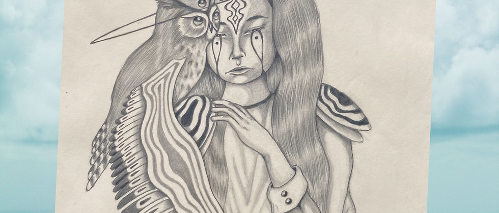 Minerva Original Drawing
