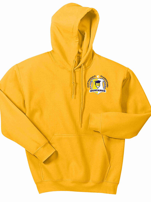 "Gold Pullover ""Pencil Shield"" Logo"