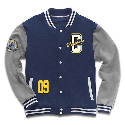 Adult Navy and grey Varsity Jacket